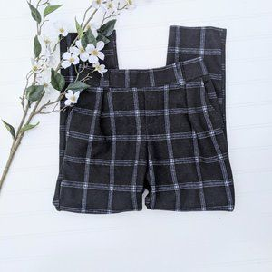 Abercrombie Kids Black Plaid Pull-On Dress Pants